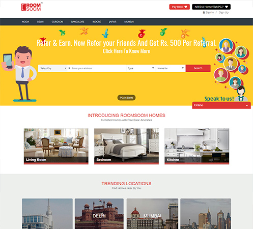 RoomSoom Rental Website